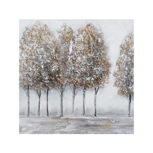 Canvas schilderij 60 x 60 cm Bomenrij