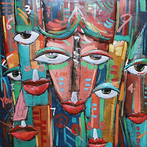 3D Schilderij Nieuwe kunst 100x100cm