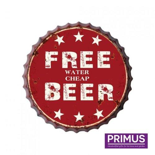 Bierdop muurdeco Free beer