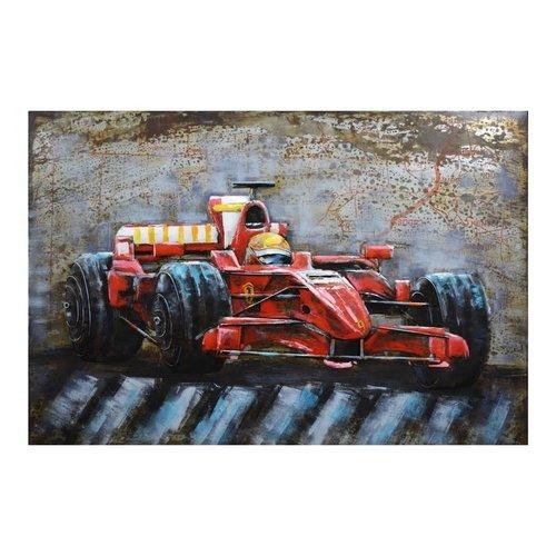 3d schilderij F1 raceauto