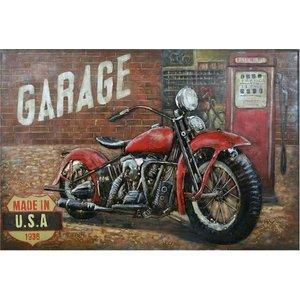 3d schilderij Motor rood