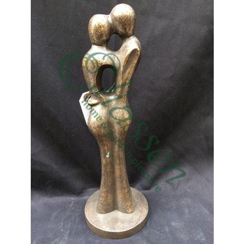 Beeld brons abstract liefdespaar klein
