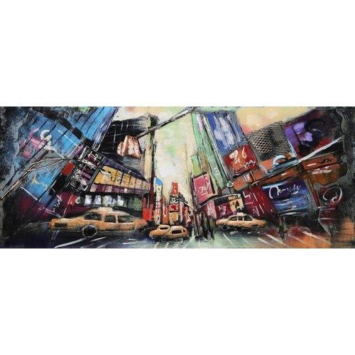 3D schilderij metaal 60x150cm Bustle