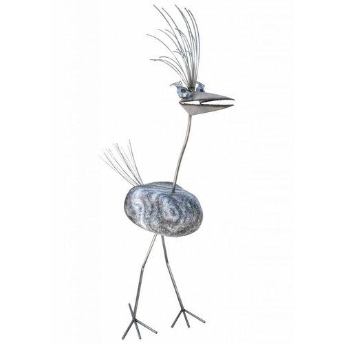 Figuur vogel groot RVS Dorothea 1