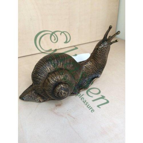 Beeld brons kleine slak