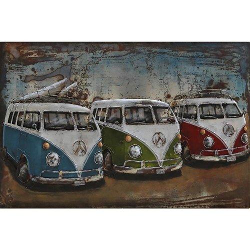 3d schilderij 120x80cm 3 bussen