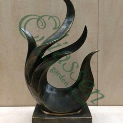 Eliassen Bronzen beeld abstract figuur