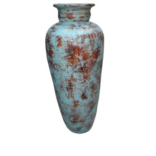 Eliassen Interieur Vaas  Glato 100cm Oud  turquoise