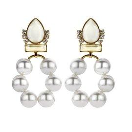 Souvenirs de Pomme BRIDAL EARRING CHROME PEARL