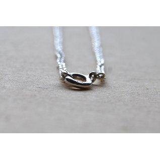 Veldjuwelen Silver necklace with heart