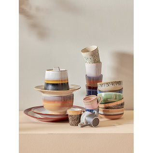 HK living 70s ceramics: coffee mug, sunset
