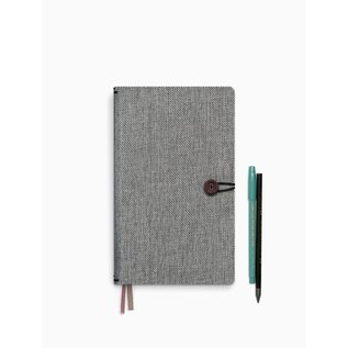 tinne+mia Notebook met knoop - Moss Agate