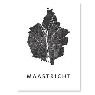 Kunst in Kaart Maastricht stadskaart poster