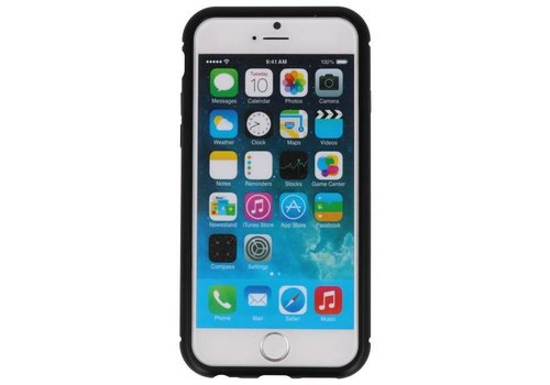 Magnetic Back Cover voor iPhone 6 Zwart - Transparant