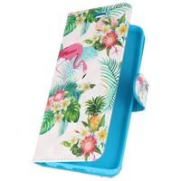 Bookstyle Hoesje voor Galaxy S9 3D Print Flamingo