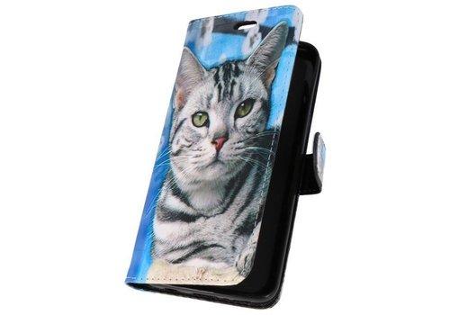 Bookstyle Hoesje voor Galaxy S9 3D Print Cat