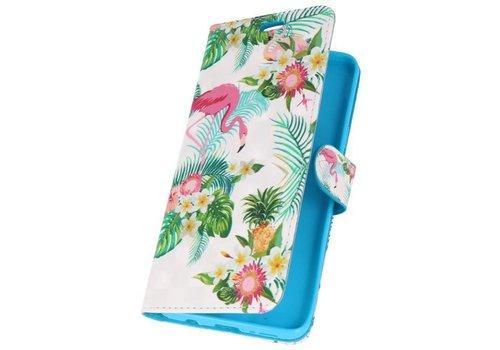 Bookstyle Hoesje voor Galaxy S9 Plus 3D Print Flamingo