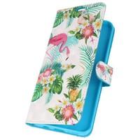 Bookstyle Hoesje voor Galaxy S8 Plus 3D Print Flamingo
