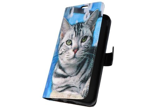 Bookstyle Hoesje voor Galaxy S8 Plus 3D Print Cat