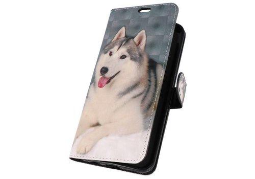 Bookstyle Hoesje voor Galaxy S8 Plus 3D Print Hondje