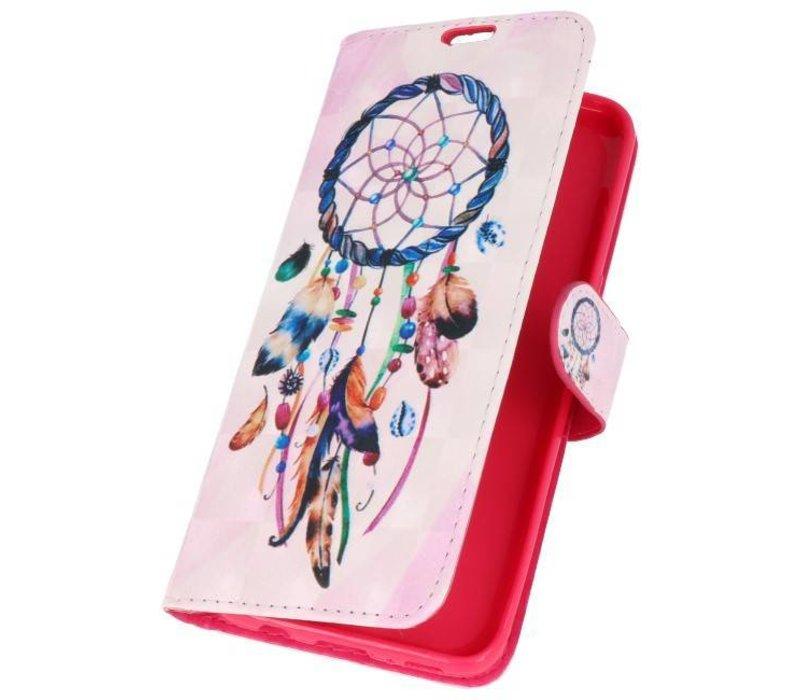 Bookstyle Hoesje voor Galaxy S8 3D Print Dromenvanger