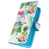 Bookstyle Hoesje voor Galaxy S8 3D Print Flamingo