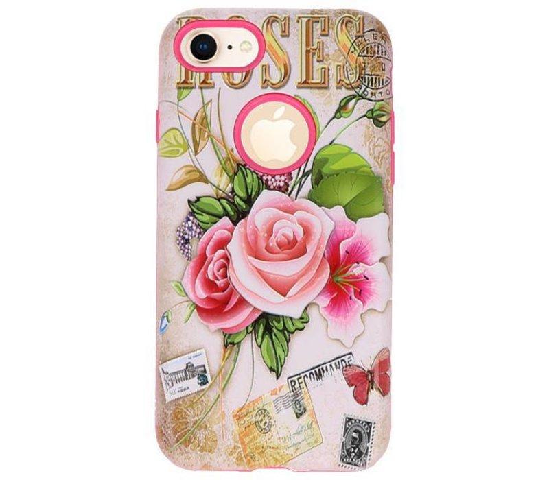 3D Print Hard Case voor iPhone 8 Roses