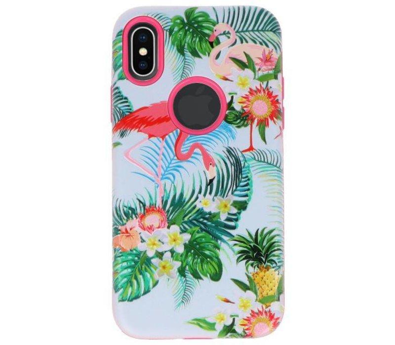 3D Print Hard Case voor iPhone X Flamingo