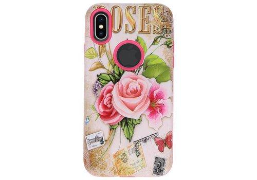3D Print Hard Case voor iPhone X Roses