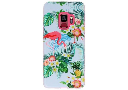3D Print Hard Case voor Galaxy S9 Flamingo
