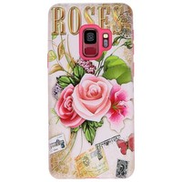 3D Print Hard Case voor Galaxy S9 Roses
