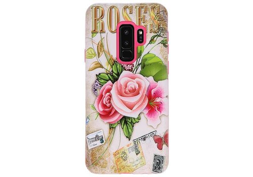 3D Print Hard Case voor Galaxy S9 Plus Roses