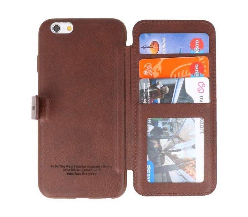Back Cover Book Design Hoesje voor iPhone 6 Mocca