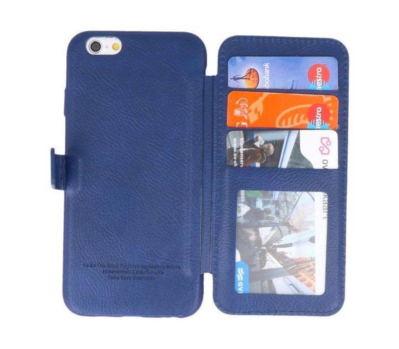 Back Cover Book Design Hoesje voor iPhone 6 Blauw