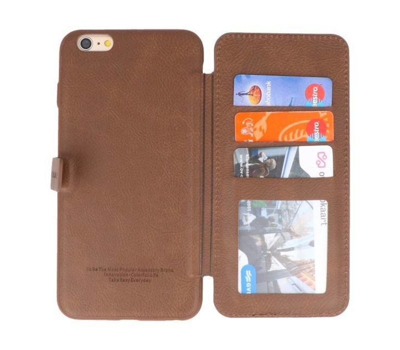 Back Cover Book Design Hoesje voor iPhone 6 Plus Mocca