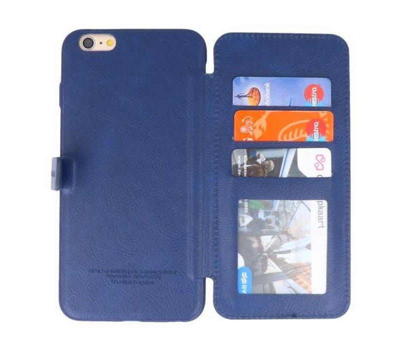 Back Cover Book Design Hoesje voor iPhone 6 Plus Blauw
