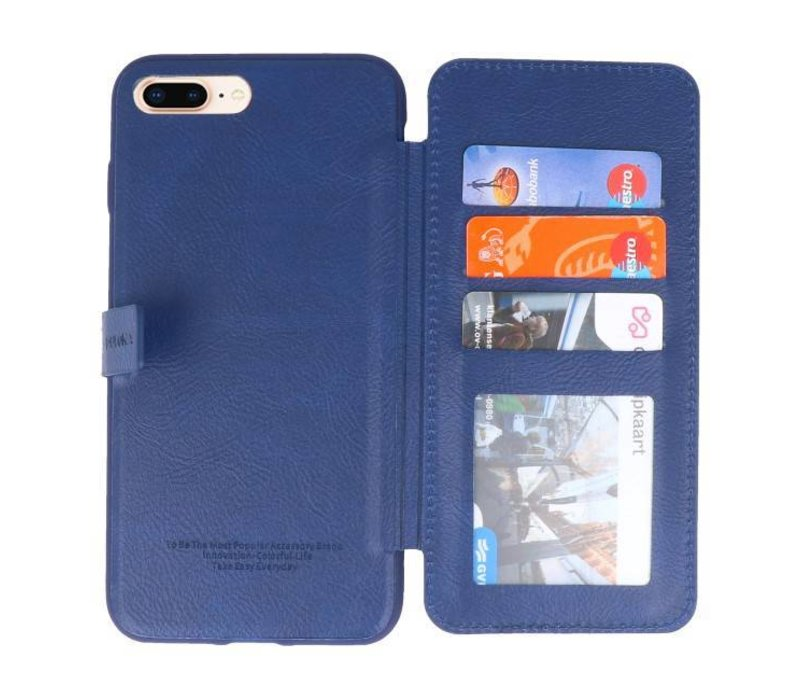 Back Cover Book Design Hoesje voor iPhone 8 Plus Blauw