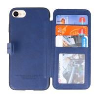 Back Cover Book Design Hoesje voor iPhone 8 Blauw