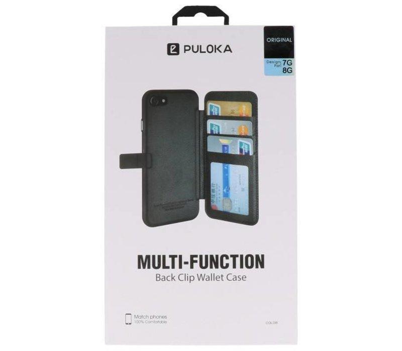Back Cover Book Design Hoesje voor iPhone 8 Zwart