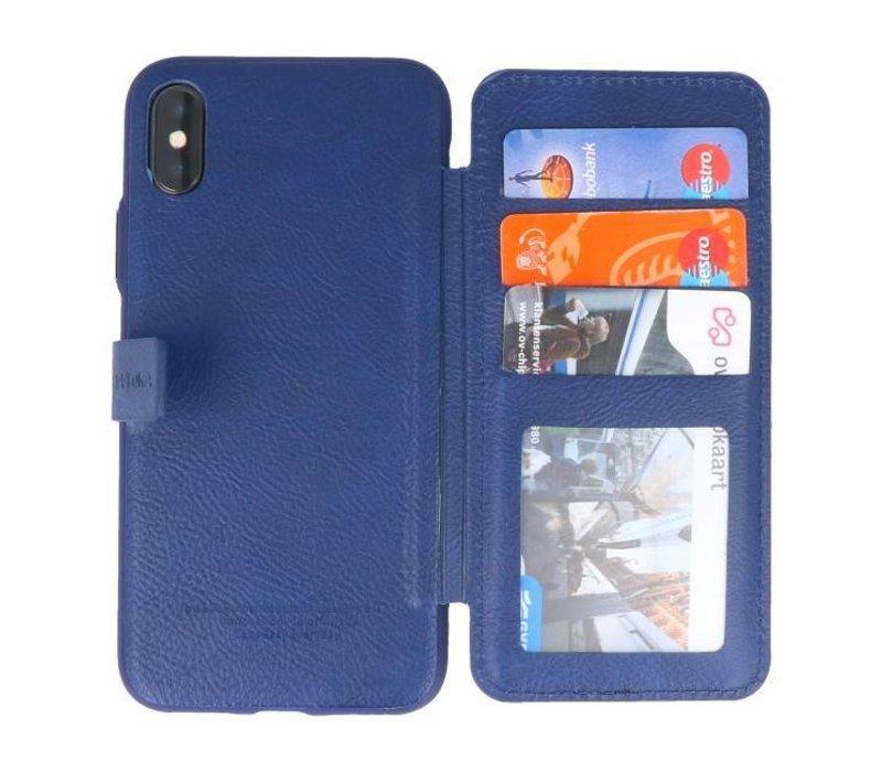 Back Cover Book Design Hoesje voor iPhone X Blauw