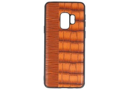 Croco Hard Case voor Samsung Galaxy S9 Bruin