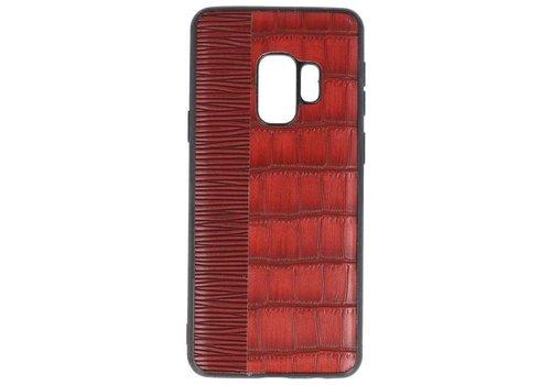 Croco Hard Case voor Samsung Galaxy S9 Rood