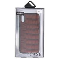 Croco Hard Case voor iPhone X Donker Bruin