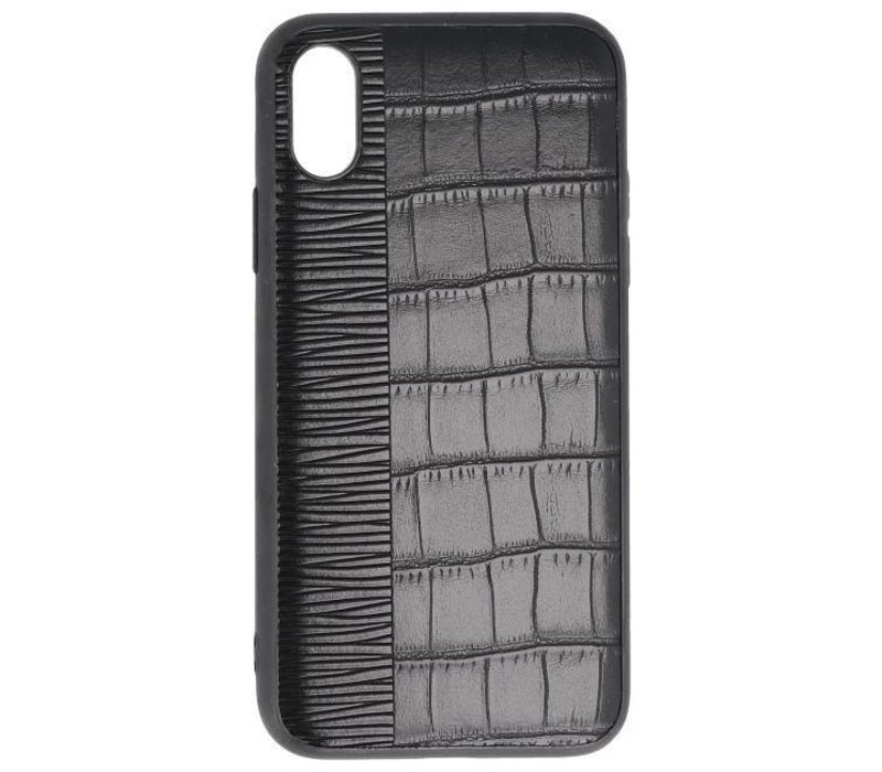 Croco Hard Case voor iPhone X Zwart
