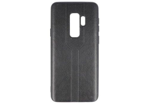 Lederlook Hard Case voor Samsung Galaxy S9 Plus Zwart