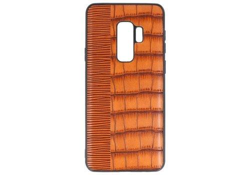 Croco Hard Case voor Samsung Galaxy S9 Plus Bruin