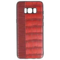 Croco Hard Case voor Samsung Galaxy S8 Rood
