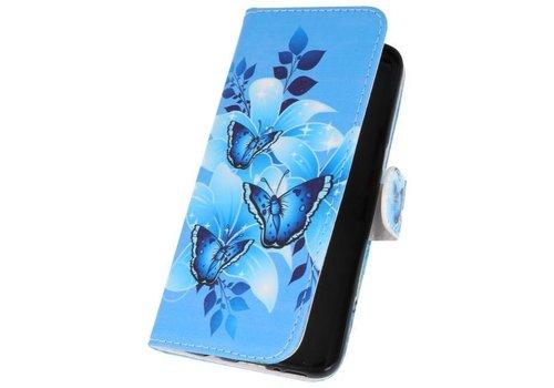 Vlinders Bookstyle Hoesje voor Galaxy S8