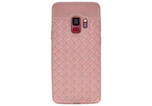 Geweven TPU Siliconen Case voor Galaxy S9 Roze