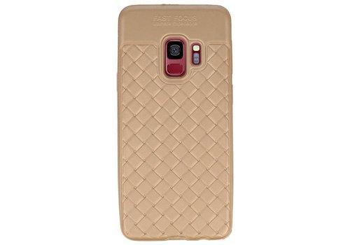 Geweven TPU Siliconen Case voor Galaxy S9 Goud